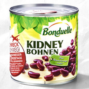 Bonduelle Kidney Bohnen oder Kichererbsen und weitere Sorten jede 425-ml-Dose/250-g-Abtropfgewicht