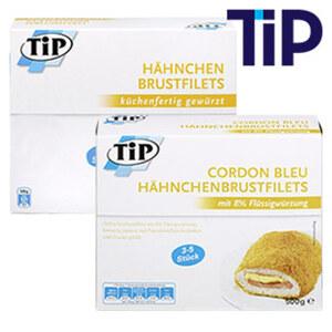 Hähnchen Brustfilets oder Cordon Bleu Hähnchenbrustfilets  mit 8% Flüssigwürzung, gefroren,  jede 500-g-Packung