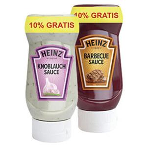 Heinz Feinkostsaucen versch. Sorten, jede 220-ml + 10% gratis = 242-ml-Bonusflasche