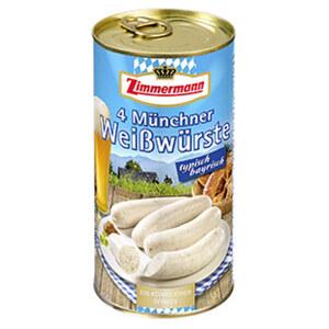 Zimmermann Münchner Weißwürste jede 4 Stück = 250-g-Dose