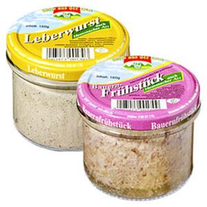 Eifeler Bauernfrühstück oder Leberwurst und weitere Sorten, jedes 160-g-Glas