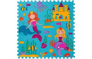 Schaumstoff-Puzzle Meerjungfrau, bestehend aus 9 je ca. 33 x 33 cm großen Puzzlestücken