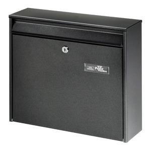 """Burg-Wächter Briefkasten """"Mail 5877"""" schwarz 36,2 x 32,2 x 10 cm"""