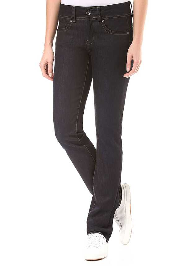 G-STAR RAW Midge Saddle Mid Straight Visor Stretch - Jeans für Damen - Blau