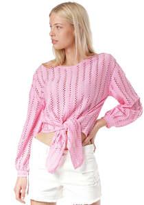 Vila Vipiline - Bluse für Damen - Pink