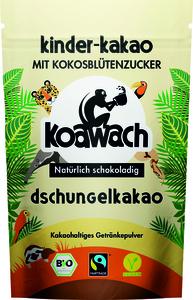Koawach Dschungelkakao Kinderkakao mit Kokosblütenzauber| Organic | Fairtrade | 100g