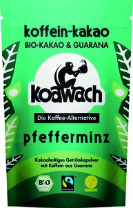 Koawach Pfefferminz kakaohaltiges Getränkepulver mit Guarana | Organic | Fairtrade | 100g
