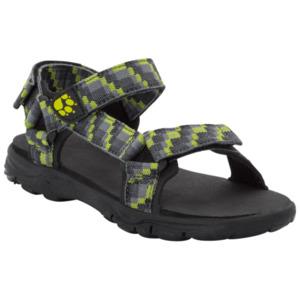 Jack Wolfskin Freizeitsandale Jungen Seven Seas 2 Sandal Boys 30 grün