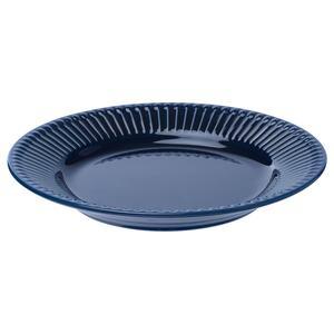 STRIMMIG                                Dessertteller, Steingut blau, 21 cm