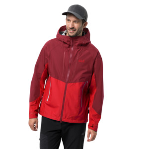 Jack Wolfskin Hardshell-Jacke Männer Kanuka Ridge Jacket Men M rot