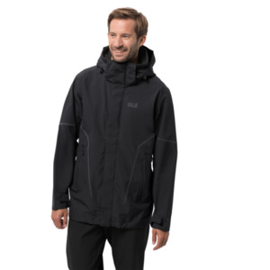 Jack Wolfskin Hardshell-Jacke Männer Taiga Trail Jacket Men S schwarz