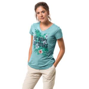 Jack Wolfskin T-Shirt Frauen AT Home T-Shirt Women XS blau