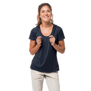 Jack Wolfskin Funktionsshirt Frauen Travel Hoody T-Shirt Women XS blau
