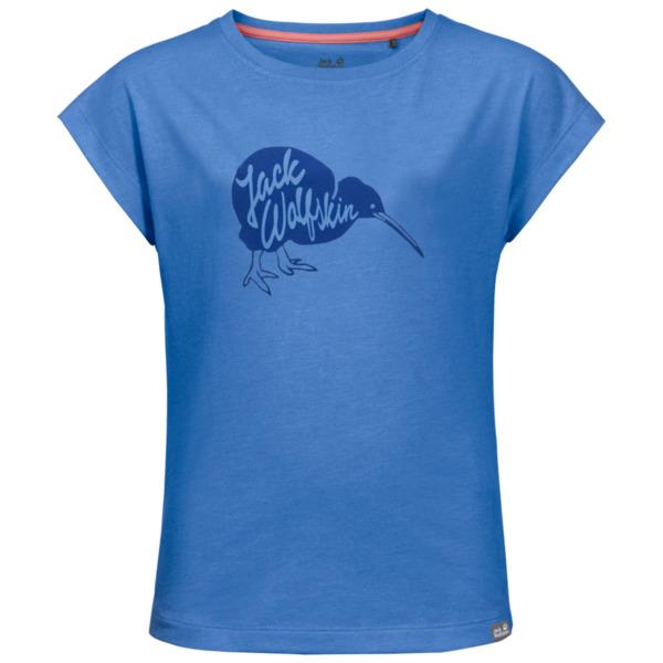 Jack Wolfskin T-Shirt Mädchen Brand T-Shirt Girls 104 blau