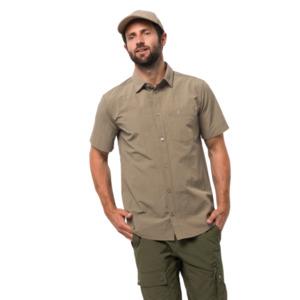 Jack Wolfskin Hemd Männer Lakeside Shirt Men L braun