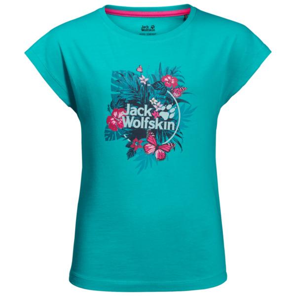 Jack Wolfskin T-Shirt Mädchen Tropical T-Shirt Girls 116 blau