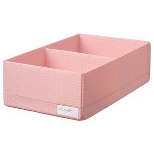STUK                                Kasten mit Fächern, rosa, 20x34x10 cm