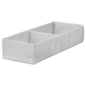 STUK                                Kasten mit Fächern, weiß/grau, 20x51x10 cm