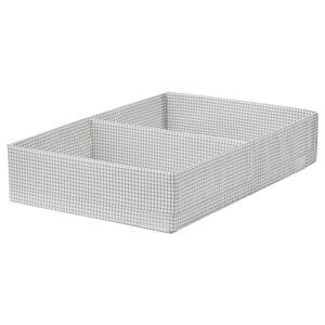 STUK                                Kasten mit Fächern, weiß/grau, 34x51x10 cm