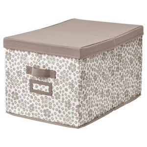 STORSTABBE                                Kasten mit Deckel, beige, 35x50x30 cm