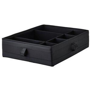 SKUBB                                Kasten mit Fächern, schwarz, 44x34x11 cm