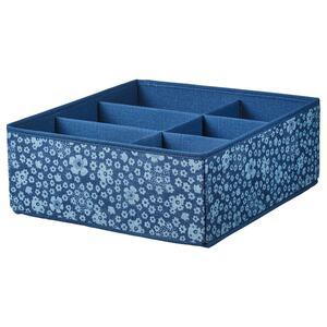 STORSTABBE                                Kasten mit Fächern, blau, weiß, 37x40x15 cm