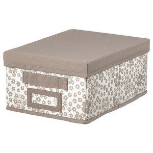 STORSTABBE                                Kasten mit Deckel, beige, 25x35x15 cm