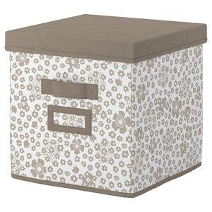 STORSTABBE                                Kasten mit Deckel, beige, 30x30x30 cm
