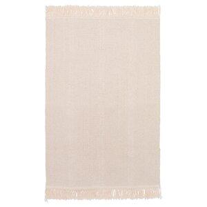 SORTSÖ                                Teppich flach gewebt, ungebleicht, 55x85 cm