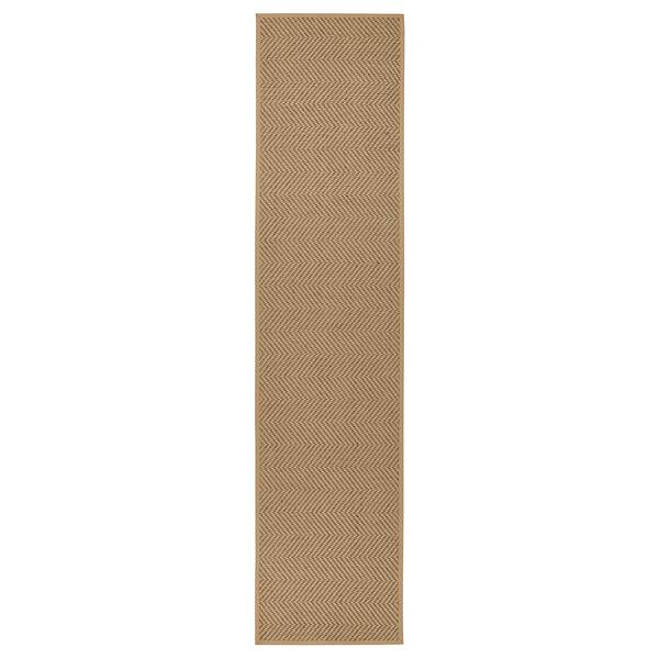 HELLESTED                                Teppich flach gewebt, natur, braun, 80x350 cm