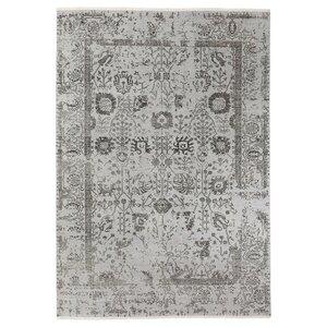 GRUMLÖSE                                Teppich Kurzflor, Handarbeit, grau, 170x240 cm