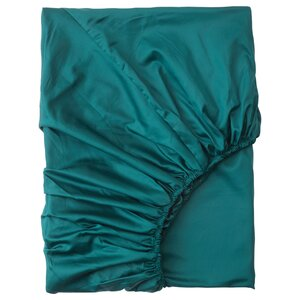 NATTJASMIN                                Spannbettlaken, dunkelgrün, 90x200 cm