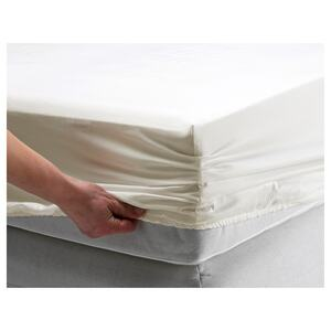 SPIKBLAD                                Spannbettlaken, weiß, 90x200 cm