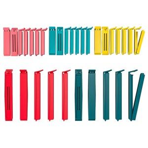 BEVARA                                Verschlussklemmen 30 St., versch. Farben versch. Farben, versch. Größen verschiedene Größen