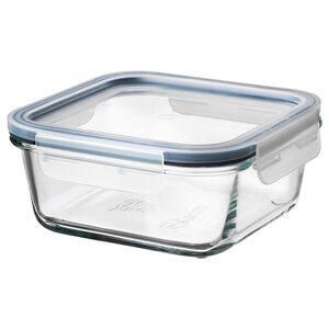IKEA 365+                                Vorratsbehälter mit Deckel, quadratisch Glas, Kunststoff Glas, 600 ml