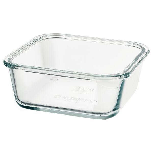 IKEA 365+                                Behälter, quadratisch, Glas, 600 ml