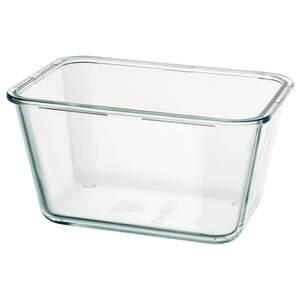 IKEA 365+                                Behälter, rechteckig, Glas, 1.8 l