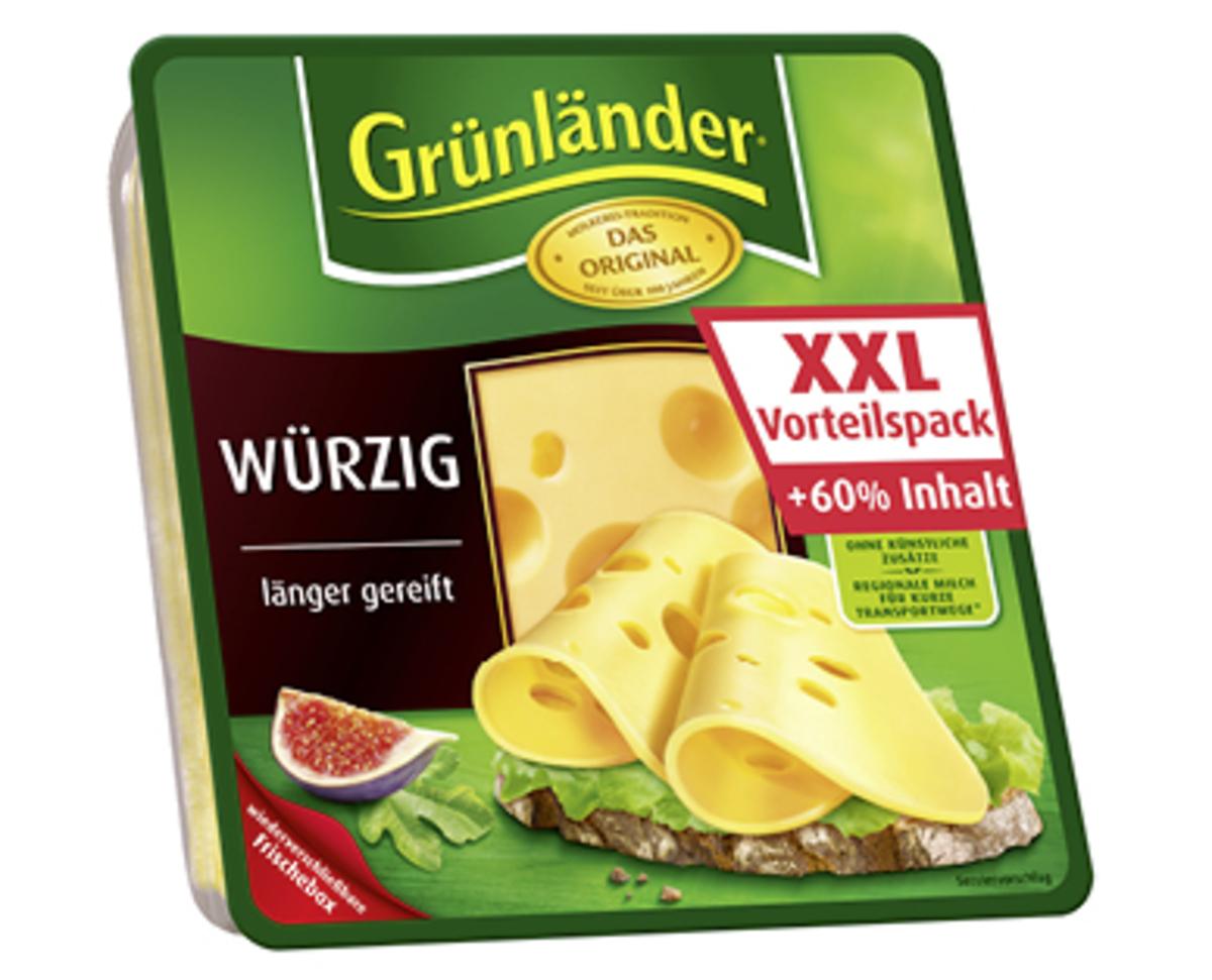 Bild 2 von Grünländer®   XXL-Käsescheiben