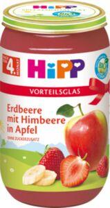 HiPP Bio Erdbeere mit Himbeere in Apfel, 250 g