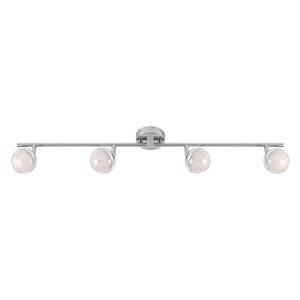 LAMPURA LED-Spotbalken - Kristalloptik - 4-flammig