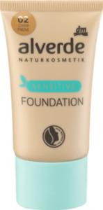 alverde NATURKOSMETIK Make-up Foundation Sensitive Champagne 02