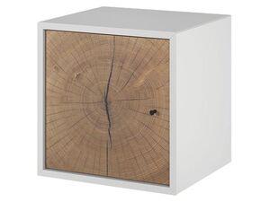 LIVARNO LIVING® Combine Modulregal mit Tür Weiß/Hirnholz