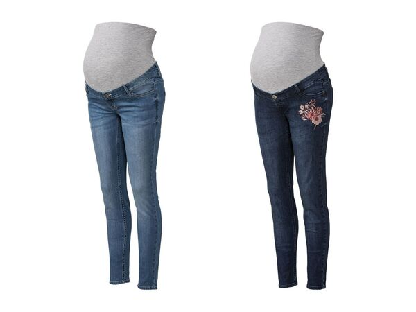 ESMARA® PURE COLLECTION Damen Umstands-Jeans