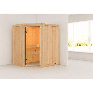 """Karibu              Sauna """"Faurin"""", naturbelassen, ohne Ofen"""