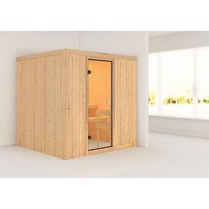 """Karibu              Sauna """"Tromsö"""", naturbelassen, ohne Ofen"""
