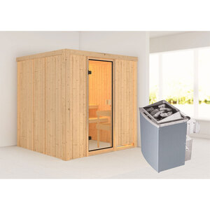 "Karibu              Sauna ""Tromsö"", naturbelassen, integrierte Steuerung"