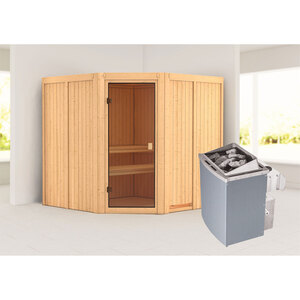 "Karibu              Sauna ""Kotka "", naturbelassen, integrierte Steuerung"