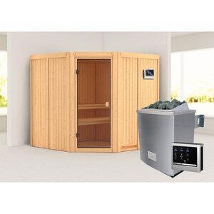 "Karibu              Sauna ""Kotka "", naturbelassen, externe Steuerung"