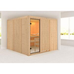 "Karibu              Sauna ""Arvika "", naturbelassen, ohne Ofen"