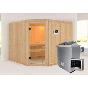 "Karibu              Sauna ""Ystad "", naturbelassen, externe Steuerung"